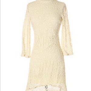 Cooperative lace high neck dress